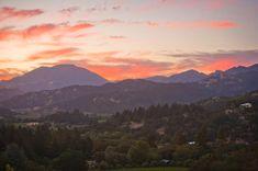 Napa Valley Sunset | Gorgeous Napa Valley sunset