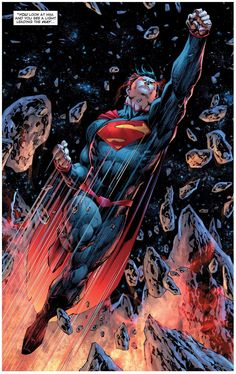 I am not a huge fan of the new 52, but this is a pretty cool panel. (Superman Unchained #9 interior art by Jim Lee *)