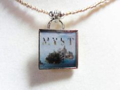 Myst Video game pendant necklace geekery by ReturnersHideout, $12.50