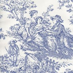 "Timeless 108"" Quilt Backing Wide Toile White Navy"
