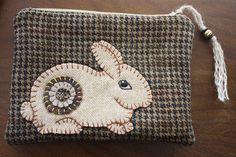 Wool Penny Bunny Clutch.