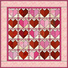 Patchwork Heart Quilt Pattern