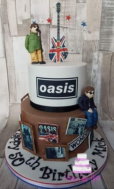 Rock Cakes, Guitar Cake, Music Guitar, Bands, Birthday Cake, Shapes, My Favorite Things, Desserts, Food