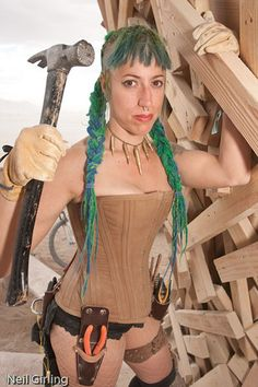 Nifer in her Carhart corset at Burning Man 2009 by mr. nightshade, via Flickr