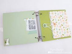 Paper Boutique: So Many Of My Smiles Begin With You ; Handmade Baby Boy Scrapbook Album