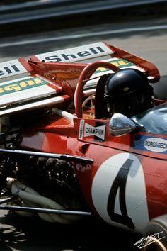 Jacky Ickx in his Ferrari 312B • Spanish Grand Prix 1971