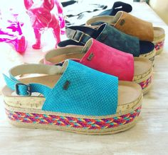 I want one in each color! Beautiful Sandals, Cute Sandals, Cute Shoes, Me Too Shoes, Shoes Sandals, Wedge Sandals, Ugly Shoes, Sock Shoes, New Shoes