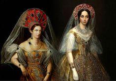 Alexandra Feodorovna y María Alexandrovna