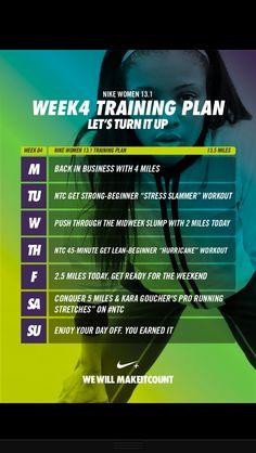 Week 4-Nike Training Plan
