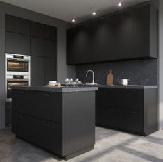 36 Ideas Kitchen Ikea Kungsbacka Black For 2019 Home Decor Kitchen, Home Decor Bedroom, Kitchen Interior, New Kitchen, Kitchen Sinks, Black Ikea Kitchen, Black Kitchens, Home Kitchens, Kitchen Wall Shelves