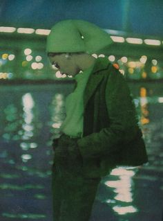 October Vogue 1962    Suede, with a gem-green brilliance; blazer jacket, wedge skirt by John Weitz for Leathermode. Photographed by Bruce Davidson.