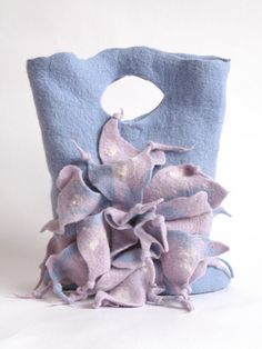 "felted bag ""WINTER""♡"