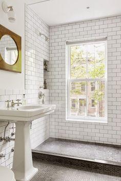 tile & glass shower
