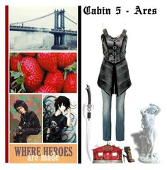 """""""Battle of the CHB Cabins - Round 7: Quest"""" by fashionqueen76 ❤ liked on Polyvore featuring S.W.O.R.D., Arden B., Giuseppe Zanotti and Roberto Cavalli"""