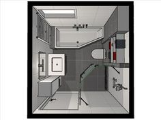 Below is a little shower room layout that stated that genuinely fulfills an easy, minimalist, contemporary as well as elegant indoor design. Bathroom Design Layout, Bathroom Design Small, Bathroom Interior Design, Bath Design, Tub Shower Combo, Shower Floor, Shower Tub, Tiny House Bathroom, Bathroom Toilets