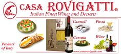 Enjoy Casa Rovigatti's wine, with our desserts-From Italy to your table!. Happy Holidays!.-Order today!-In Stock- #wine #imported #italy #desserts #cannoli #cassata #miami #holidays #gifts www.casarovigatti.com