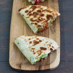 These Caramelized Onions, Mushroom and Avocado Quesadillas are delicious and quick to make.