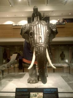 Armoured elephant at the royal armouries Leeds UK