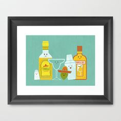 Margarita! Framed Art Print by Teo Zirinis - $33.00