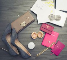 Grey & pink via @Emily Schuman / Cupcakes and Cashmere. http://www.thecoveteur.com/emily_schuman