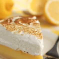 Lemon Meringue Pie Recipe Desserts with egg yolks, water, sugar, lemon juice, flour, butter, lemon zest, salt, pie crust, egg whites, sugar, cream of tartar