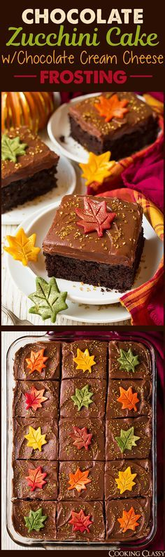 Chocolate Zucchini Cake with Chocolate Cream Cheese Frosting - Cooking Classy