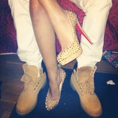 Amazing with this fashion pumps! get it for 2016 Fashion Christian Louboutin Pumps for you! Christian Louboutin Outlet, Couple Outfits, Matching Couples, Matching Outfits, Red Bottoms, Swagg, Timberland Boots, Teen Fashion, Fashion 2016