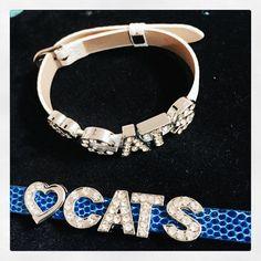 UK University of Kentucky bracelet - Big Blue Madness - UK Wildcats - Big Blue Nation - Leather Bracelet by CharmedJewelryByCDay on Etsy