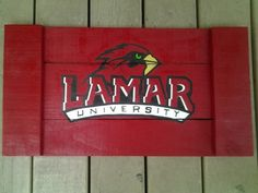 Lamar Cardinals ... Hand painted serving tray, that is made out of reclaimed pallet wood. All it needs is a couple of handles, and It's ready to be shipped!