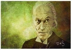 William Hartnell Digital ink illustraion 8x10 by ArtbyDNS on Etsy, £16.00