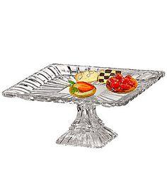 "Crystal Clear ""Alexandria"" Square Pedestal Plate   Dillards.com"