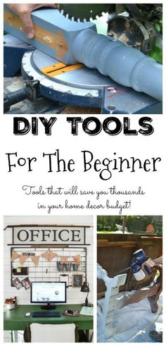 DIY Tools For The Beginner - Want to start DIYing, but don't know what tools you need? These DIY Tools For The Beginner will get you started on the right foot.