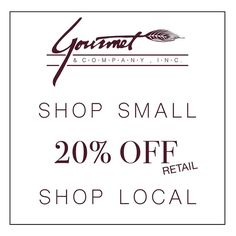 We are thankful for our customers! Help us celebrate Small Business Saturday by taking 20% off retail purchases. #smallbusiness #shopdinelocal #johnsoncitytn #shopsmall