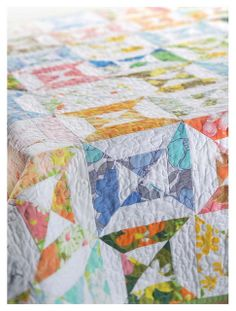 Vintage Sheet Double Hourglass Quilt