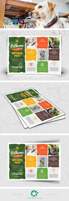 PSD Pet Shop Flyer Templates • Click here to download ! http://graphicriver.net/item/pet-shop-flyer-templates/12740247?ref=pxcr