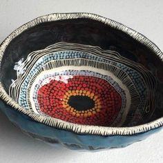 "Penny Evans, "" Design work on my ceramics reference my Kamilaroi/Goomeroi…"