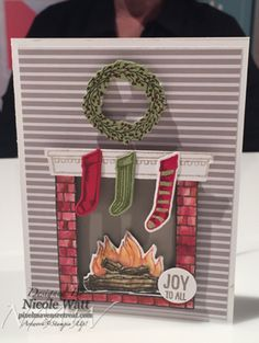 Sneak Peek Stampin' Up! Holiday Catalogue.Festive Fireplace Stamp Sets and matching Dies