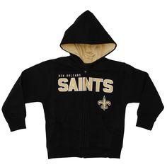 New Orleans Saints Toddler Fan Gear Stated Full Zip Hoodie - Black - $25.59