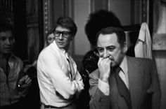 Yves Saint Laurent and Pierre Berge.