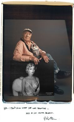 Photographer Portraits : Phil Stern, who photographed Marylin Monroe  at a children's benefit at the Shrine Auditorium in 1953 - 20x24 Polaroid - photo by Tim Mantoani