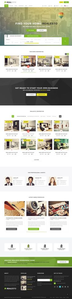 Realesto is a best Real Estate PSD Template to buy and cell property. We designed it with latest techniques. 10 different home pages, 15 Sliders styles, 12 Header Styles and 08 Footers Styles and many extra and special pages included. #psdtemplate #realestate
