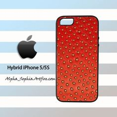 Strawberry Skin iPhone 5 5s Rubber Case Cover