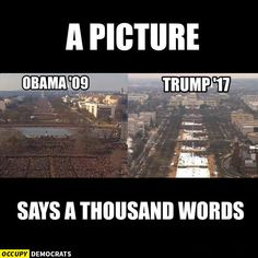 Funniest Donald Trump Inauguration Memes: Trump vs. Obama Crowd Sizes