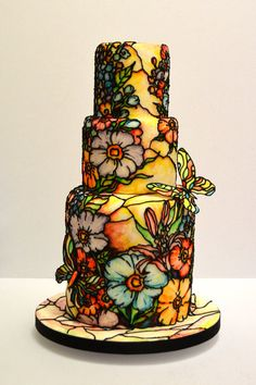 stainedglass, stainglass, glasses, stains, sugar art, wedding cakes, stain glass, stained glass, glass cake