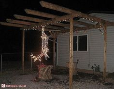 redneck christmas lights---this is pretty funny---especially for my deer hunter! Redneck Christmas, Christmas Deer, Christmas Humor, Christmas Lights, Merry Christmas, Christmas Time, Christmas Stuff, Classy Christmas, Western Christmas