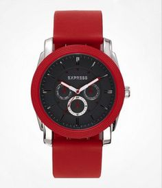 MULTI-FUNCTION SILICONE STRAP WATCH - RED at Express   I REALLY REALLY REALLY REALLY WANT THIS!!!!!!