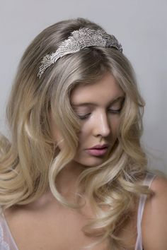 Crystal feather wedding tiara from Stephanie Browne Bridal Tiara fc96ab6c126a