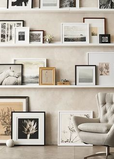 Our Gallery in a Box set comes with everything you need to easily create a beautiful wall of memories. Choose from a set of six, 10 or 15 wood frames with archival mats to add a display in any space. White Frames, Beautiful Wall, Wall Art Decor, Floating Shelves, Photo Wall, Gallery, Box, Modern, Inspiration