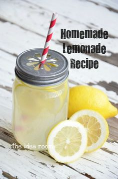 Homemade Lemonade Recipe via Amy Huntley (The Idea Room)