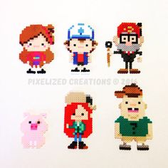 Inspired by the wacky Disney XD cartoon, Gravity Falls created by Alex Hirsh, you can bring home a custom Gravity Falls Chibi character Pearler Bead Patterns, Perler Patterns, Loom Patterns, Beading Patterns, Plastic Bead Crafts, Plastic Beads, Hama Beads, Fuse Beads, Hama Disney